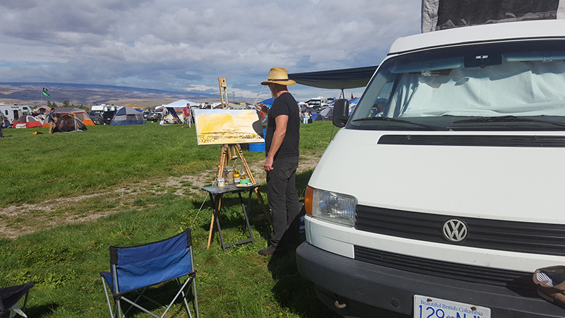 dave+matthews+band+at+the+gorge+campground+live+painting+by+impressions+live+art