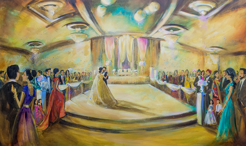 Impressions Live Art - Wedding painting - gary and kalveen - royal hall.jpg