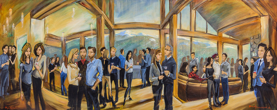 live event painting birthday celebration in whistler bc