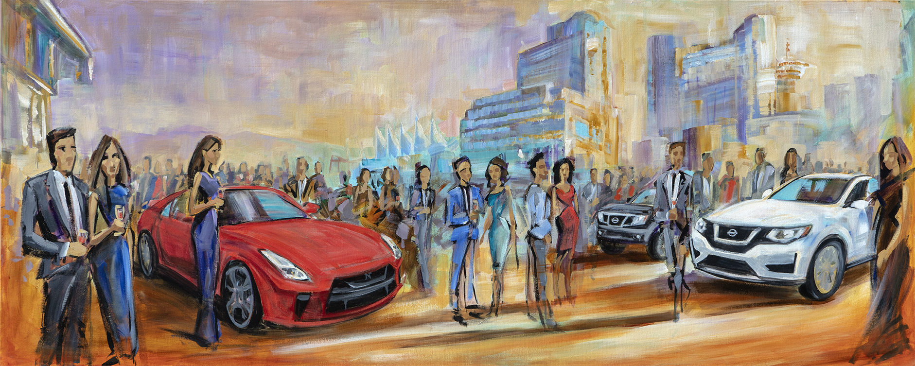 auto show 2019 live painting at the Vancouver convention center.jpg