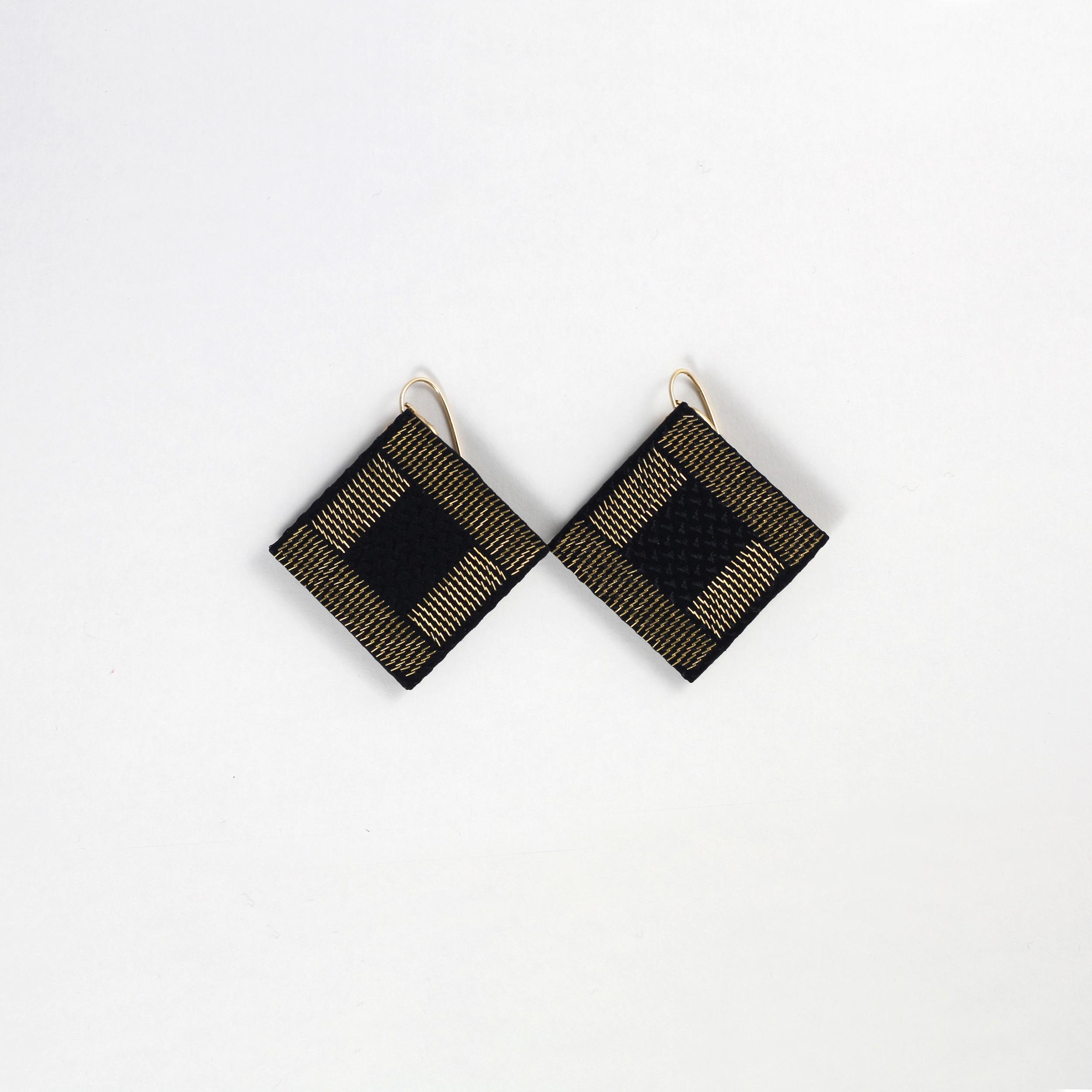 Drop-Down-Earrings-Black-Silk-Gold-Metal-CPU-Isabel-Wong.JPG