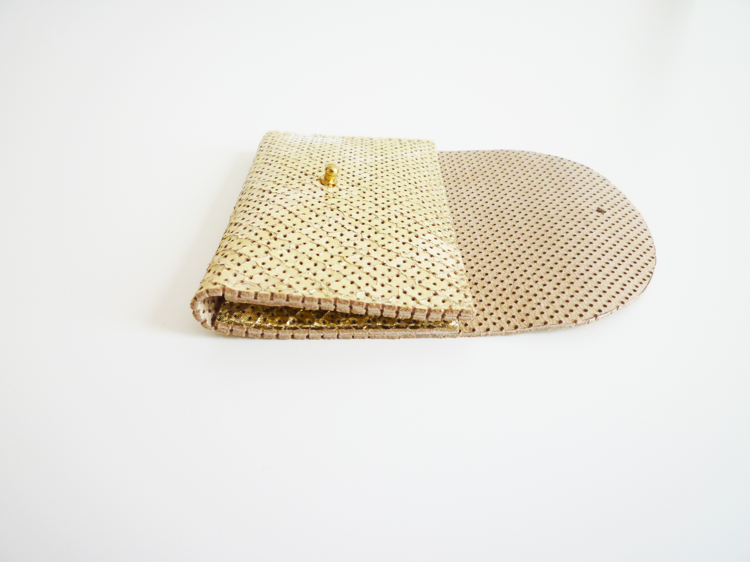 Perforated Leather Foiled Gold Travel Card Holder.JPG