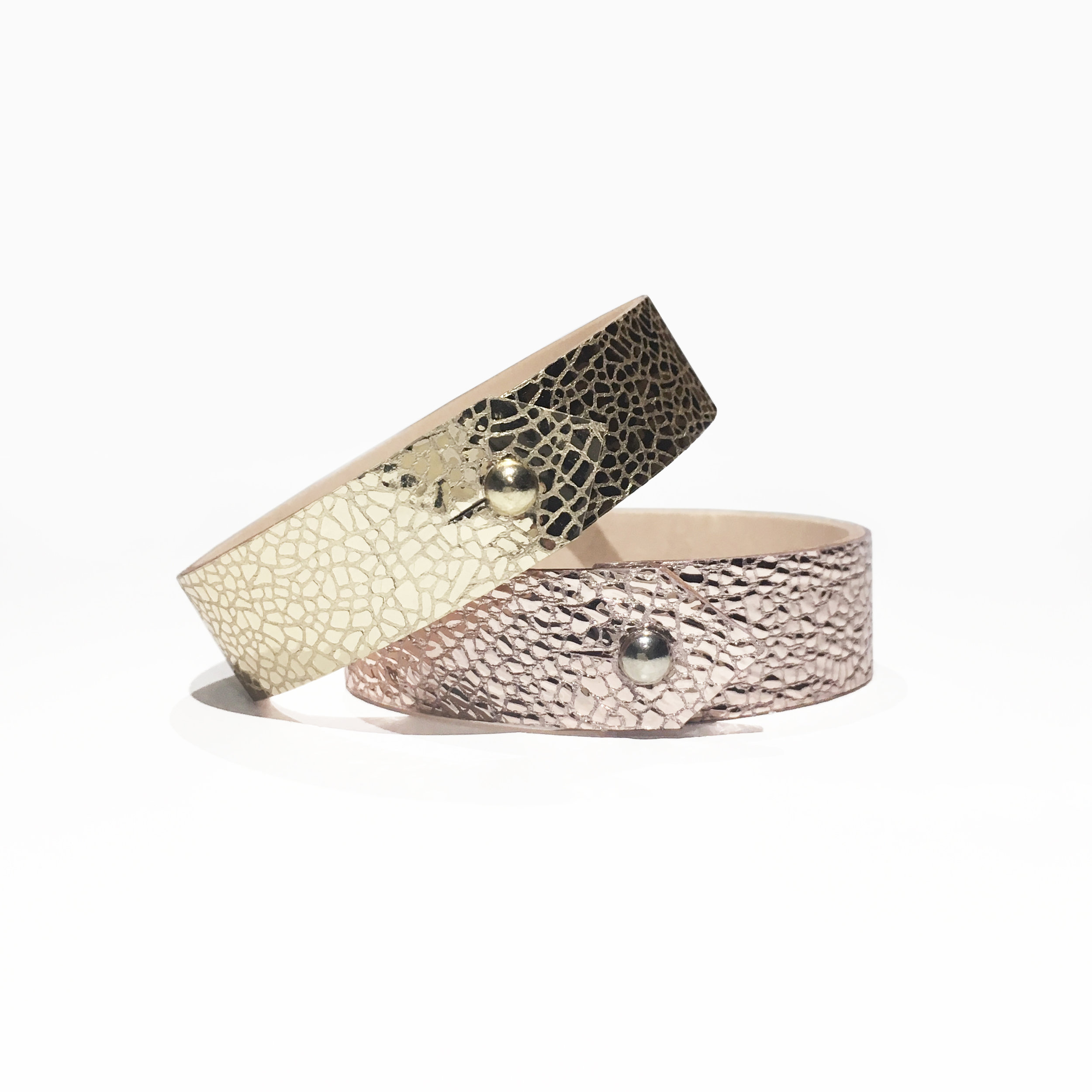 Pink and Gold Leather Cuffs Isabel Wong.jpg