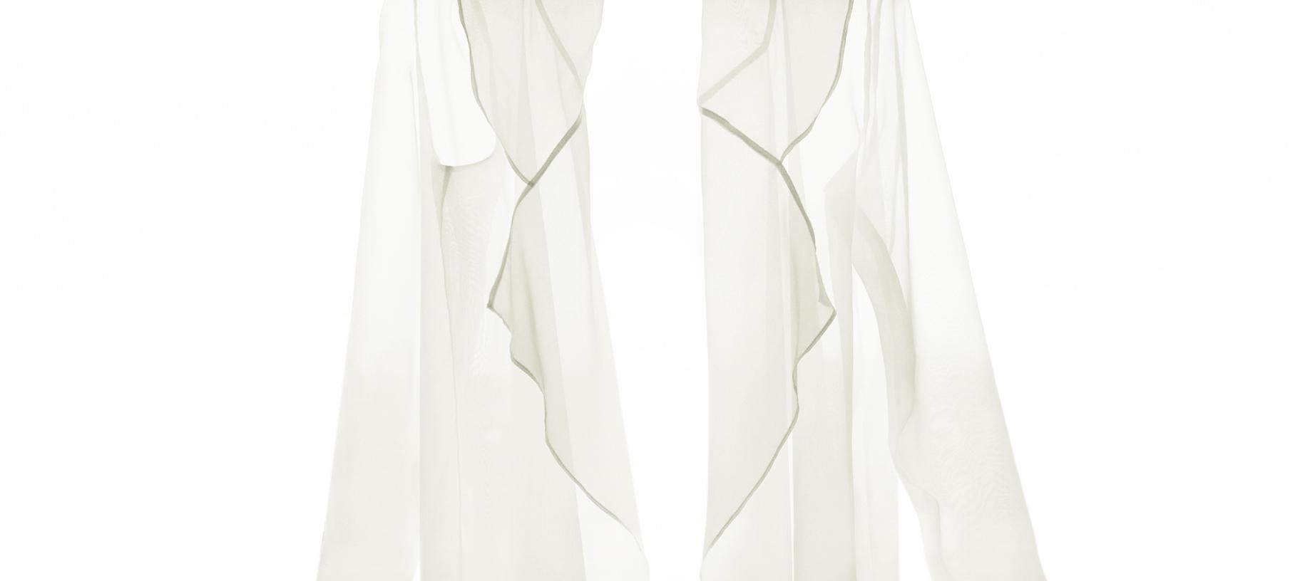 Isabel Wong Translucent Sheer White Organza Jacket.JPG
