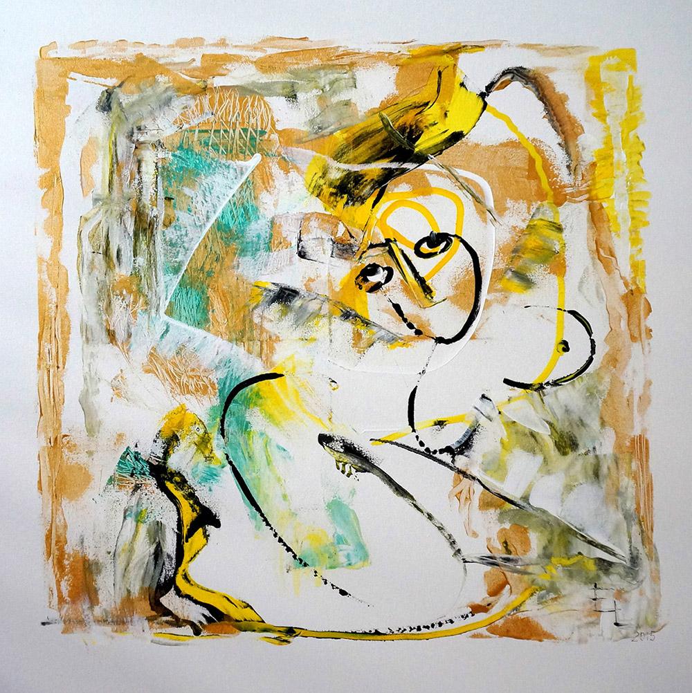 "Miami Rhapsody 1, Acrylic on Canvas, 36""x36"""