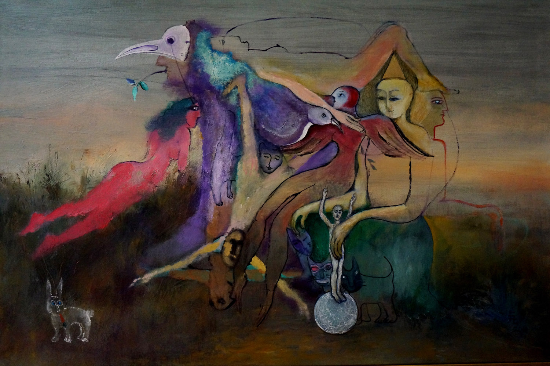"A dream about Ukraine, Acrylic on Canvas, 24""x36"""