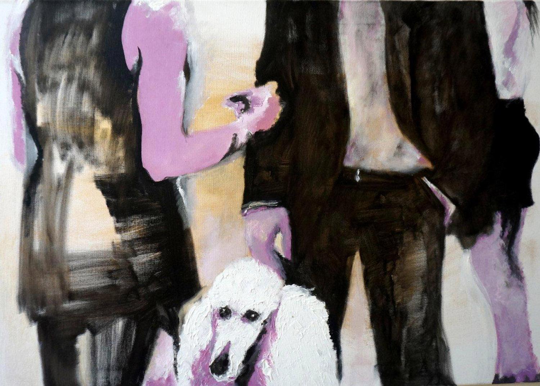 "Vernissage, Acrylic on Canvas, 24""x36"""