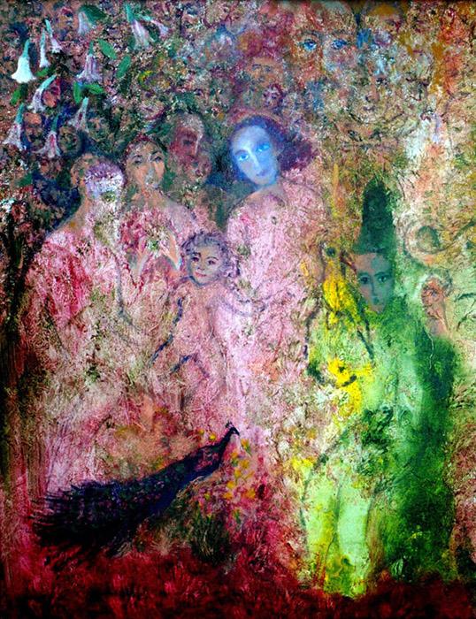"""The Family, Acrylic on Canvas, 22""""x28"""""""