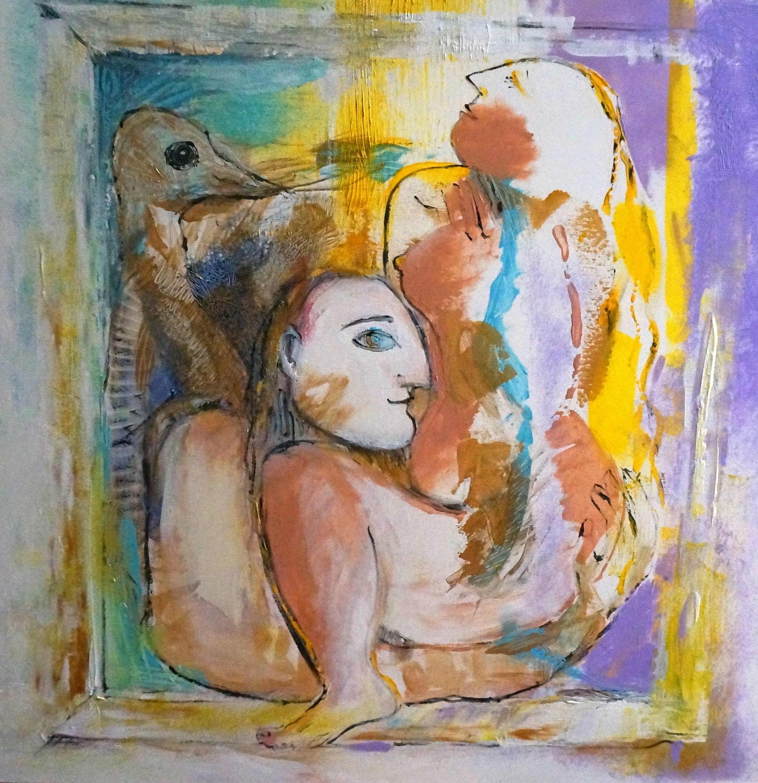 "Miami Rhapsody 2, Acrylic on Canvas, 36""x36"""