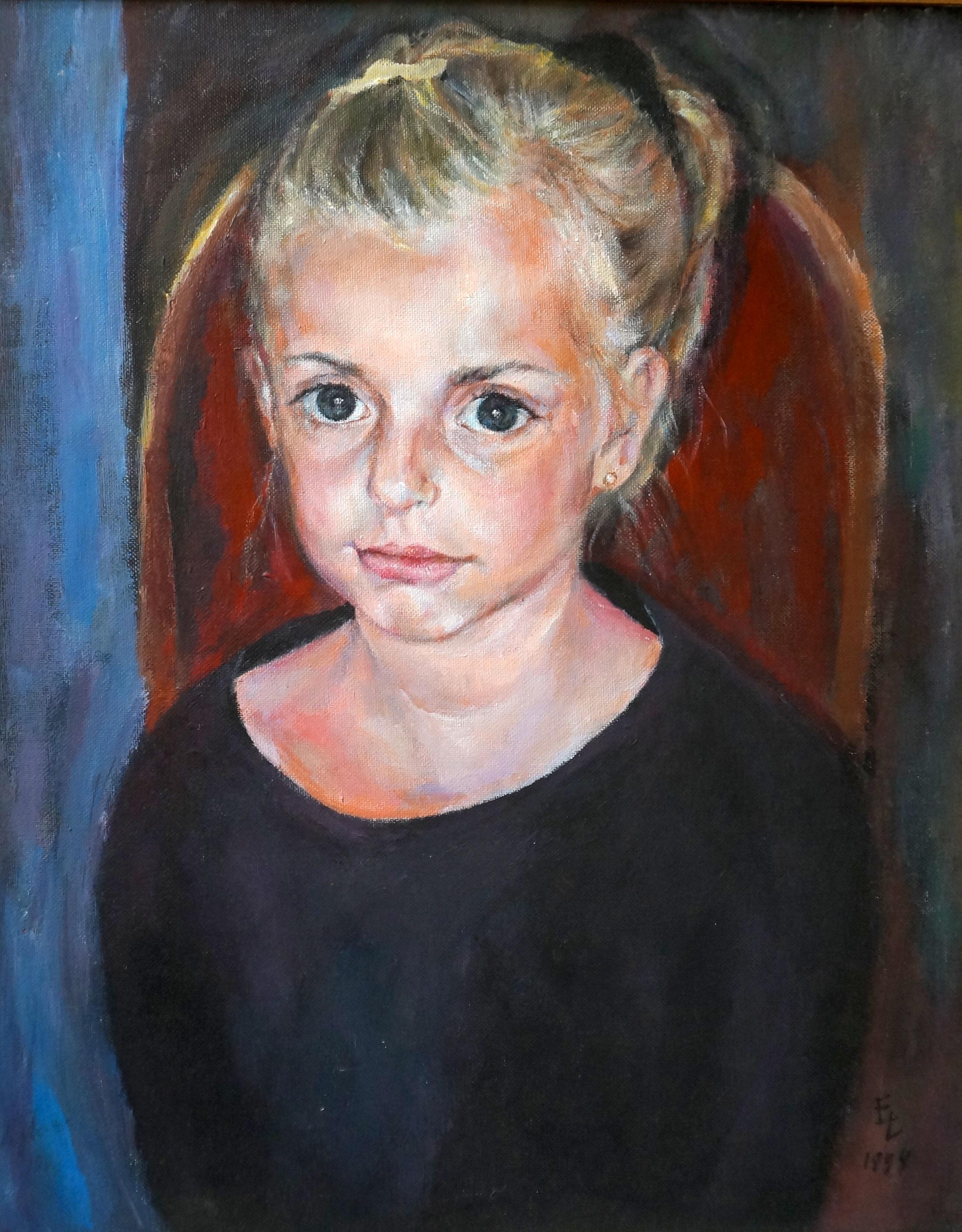 """Hanna, Acrylic on Canvas, 20""""x16"""""""