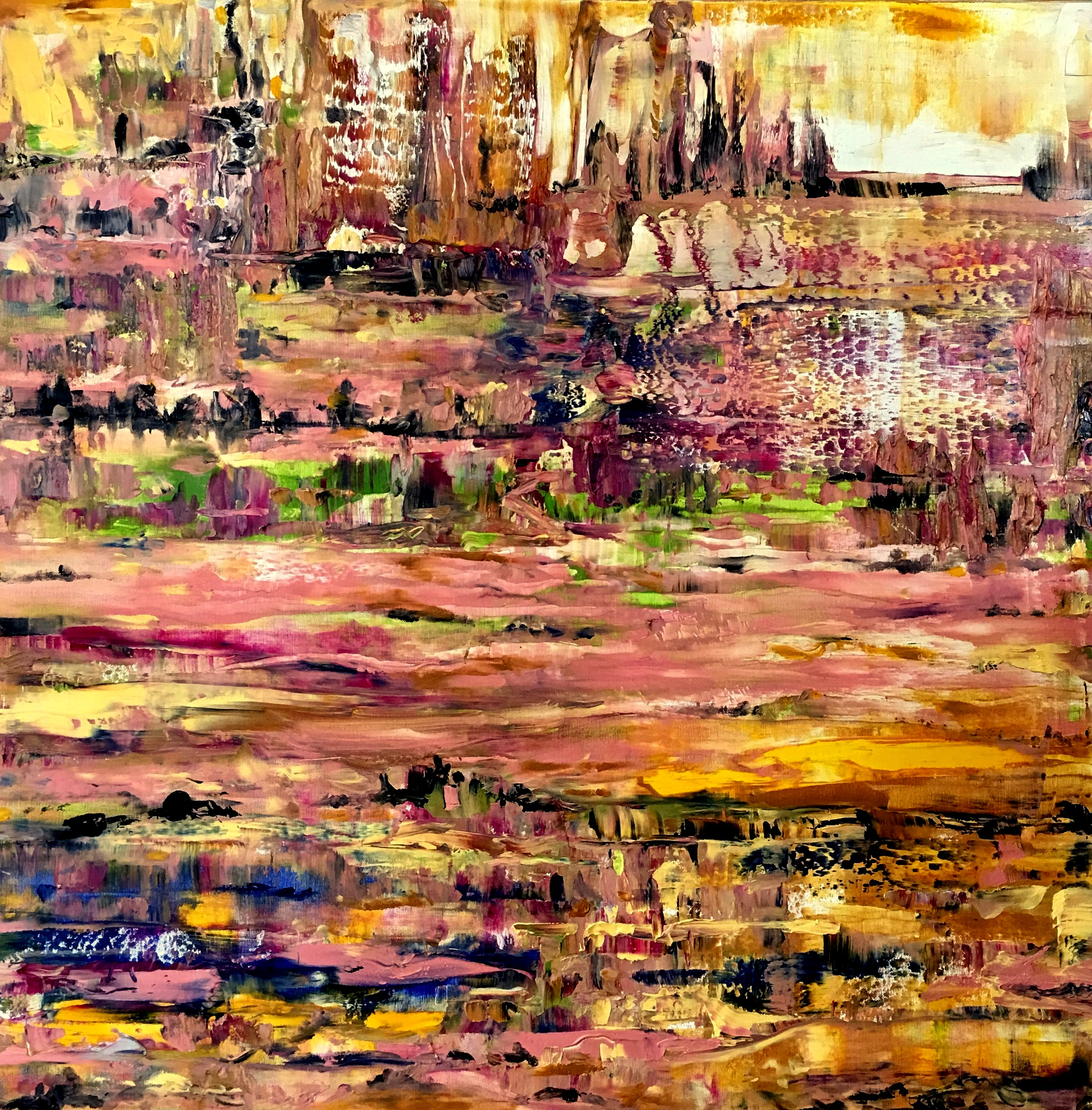 """Abstract Landscape, Acrylic on Canvas, 36""""x36"""""""
