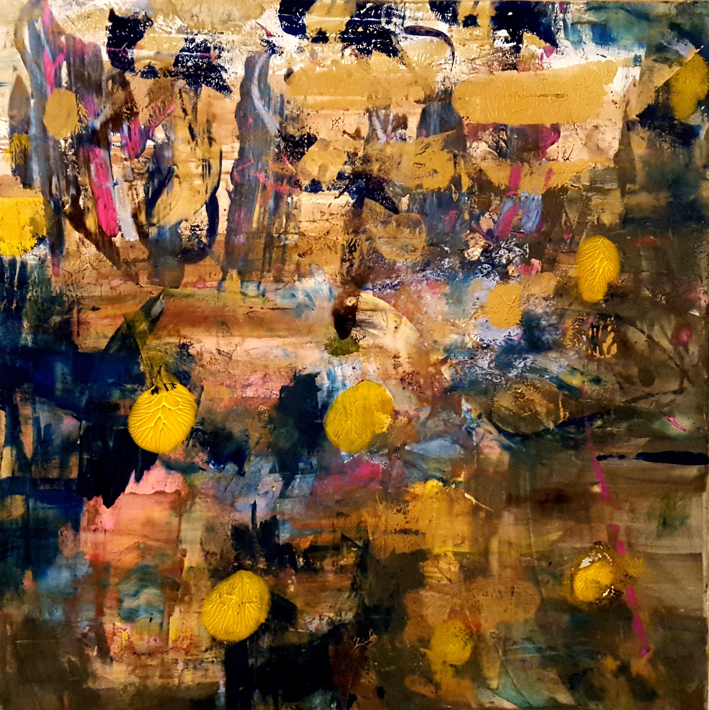 """Autumn Etude, Acrylic on Canvas, 36""""x36"""""""