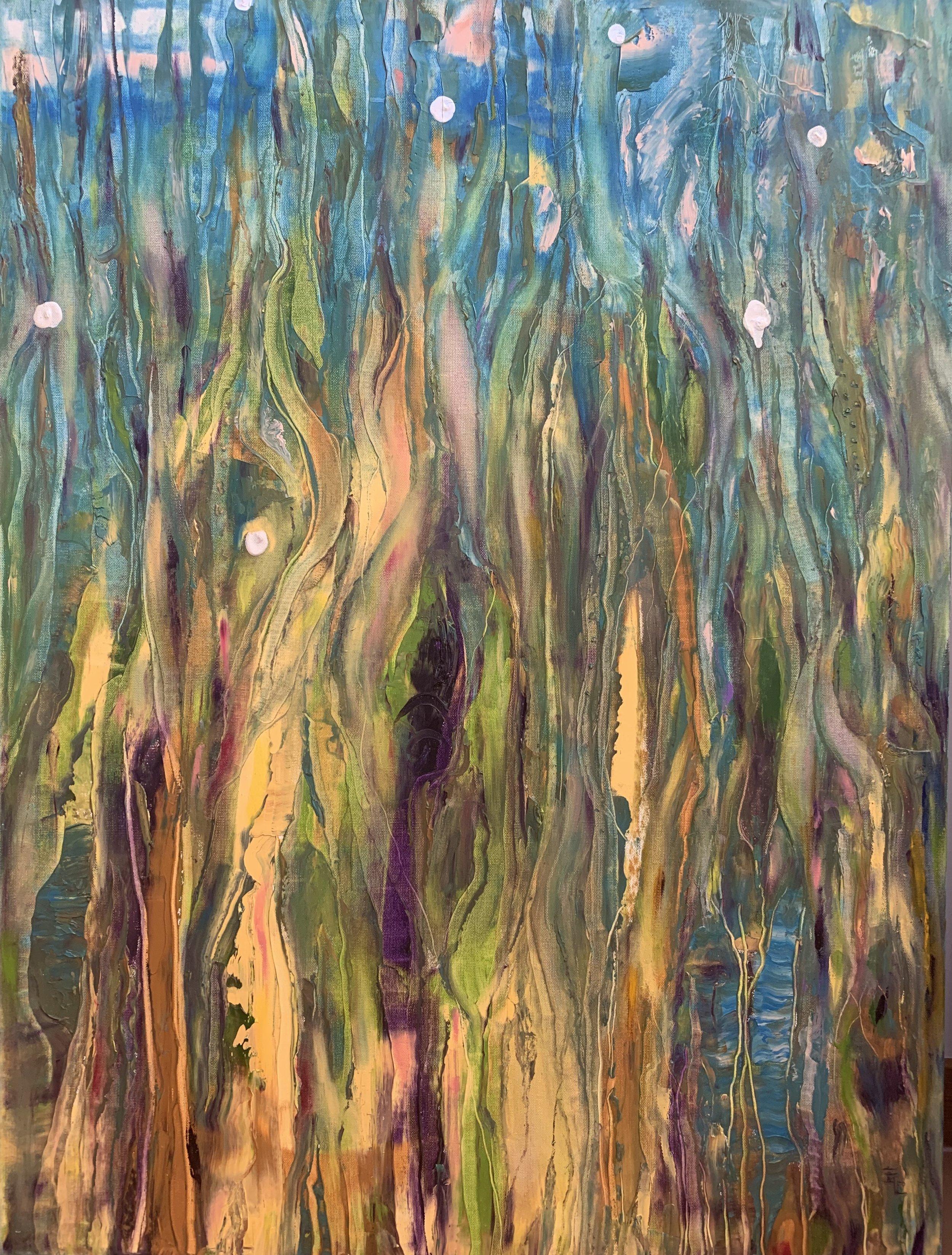 """Blue Rhapsody, Acrylic on Canvas, 40""""x30"""""""