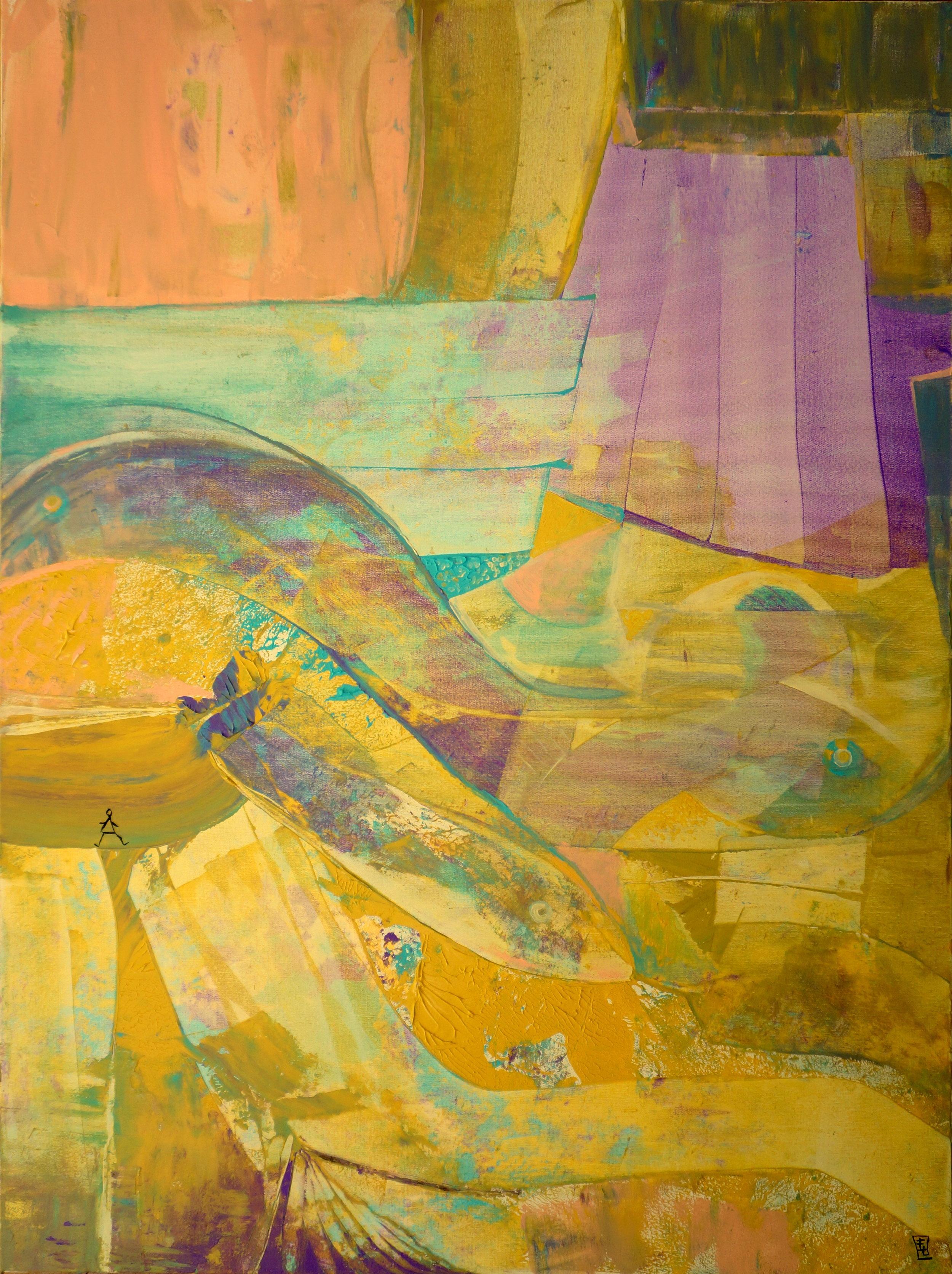 "The Bridge, Acrylic on Canvas, 48""x36"""