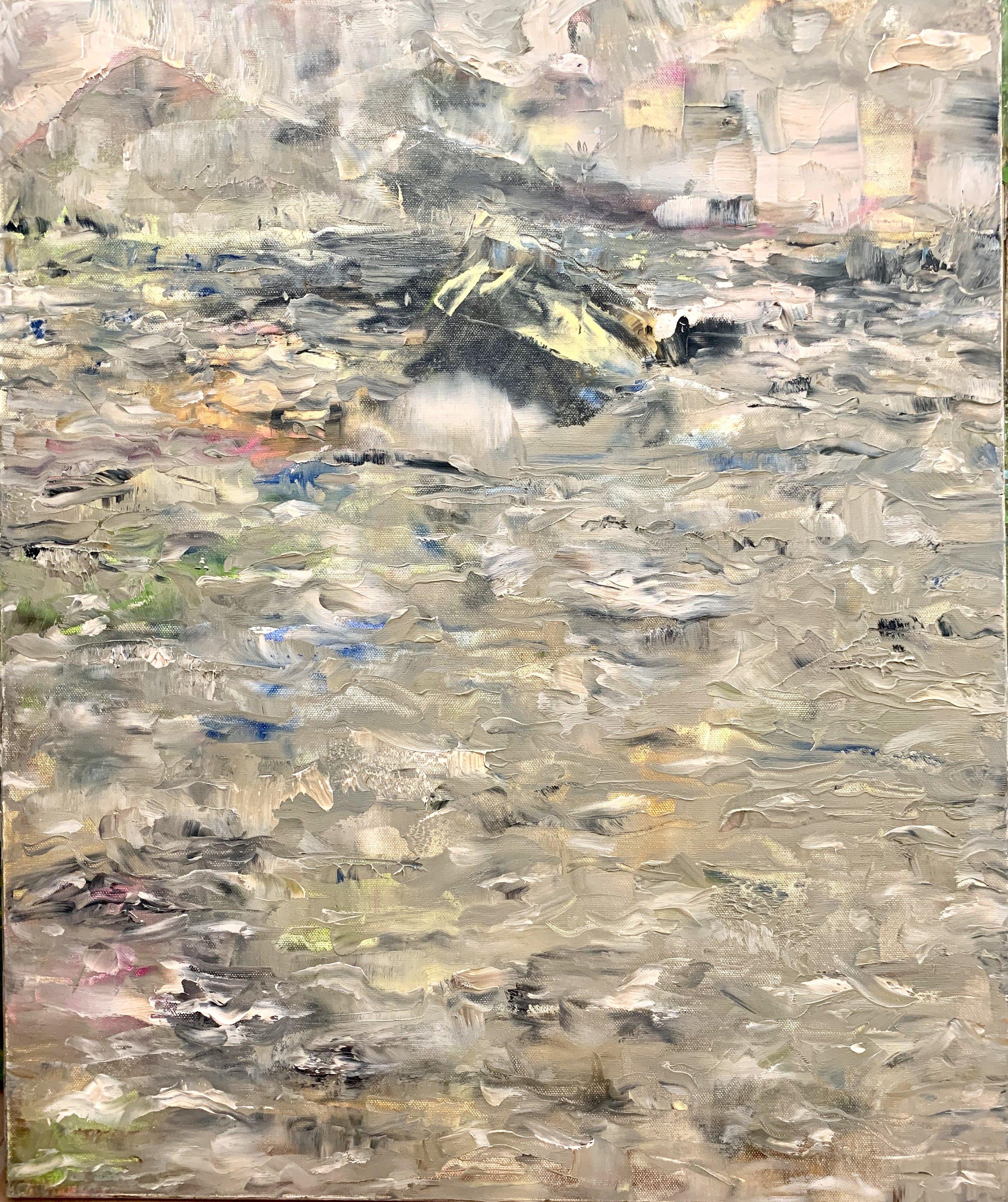 """The Ocean, Acrylic on Canvas, 24""""x20"""""""
