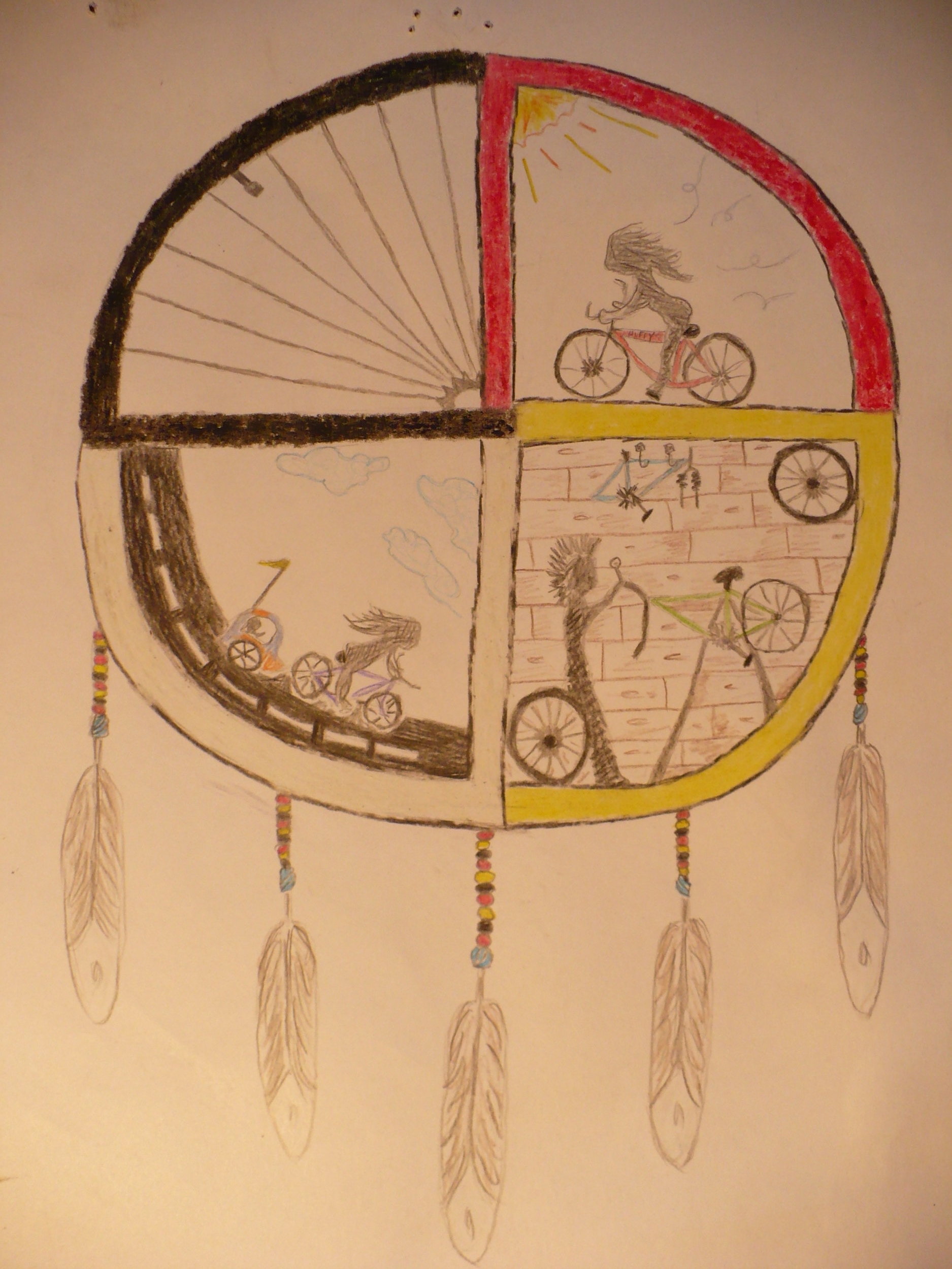 Medicine Wheel Bicycle Project                                                                                                                                                                                                                                                             - Sponsored by The Department of Human Resources of the Confederated Salish and Kootenai Tribes and Free Cycles Missoula