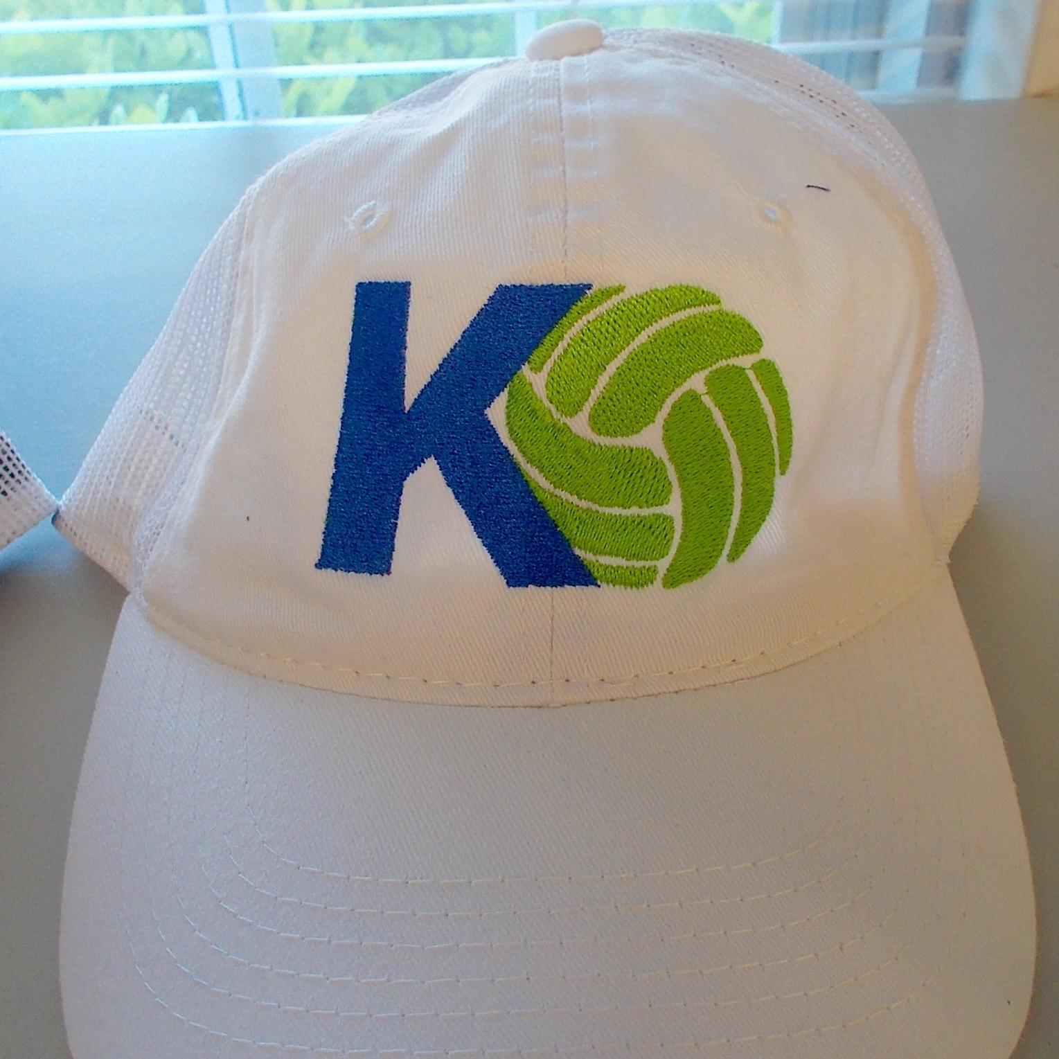 KO Hat - Premium, Low profile mesh back hat.White - $20