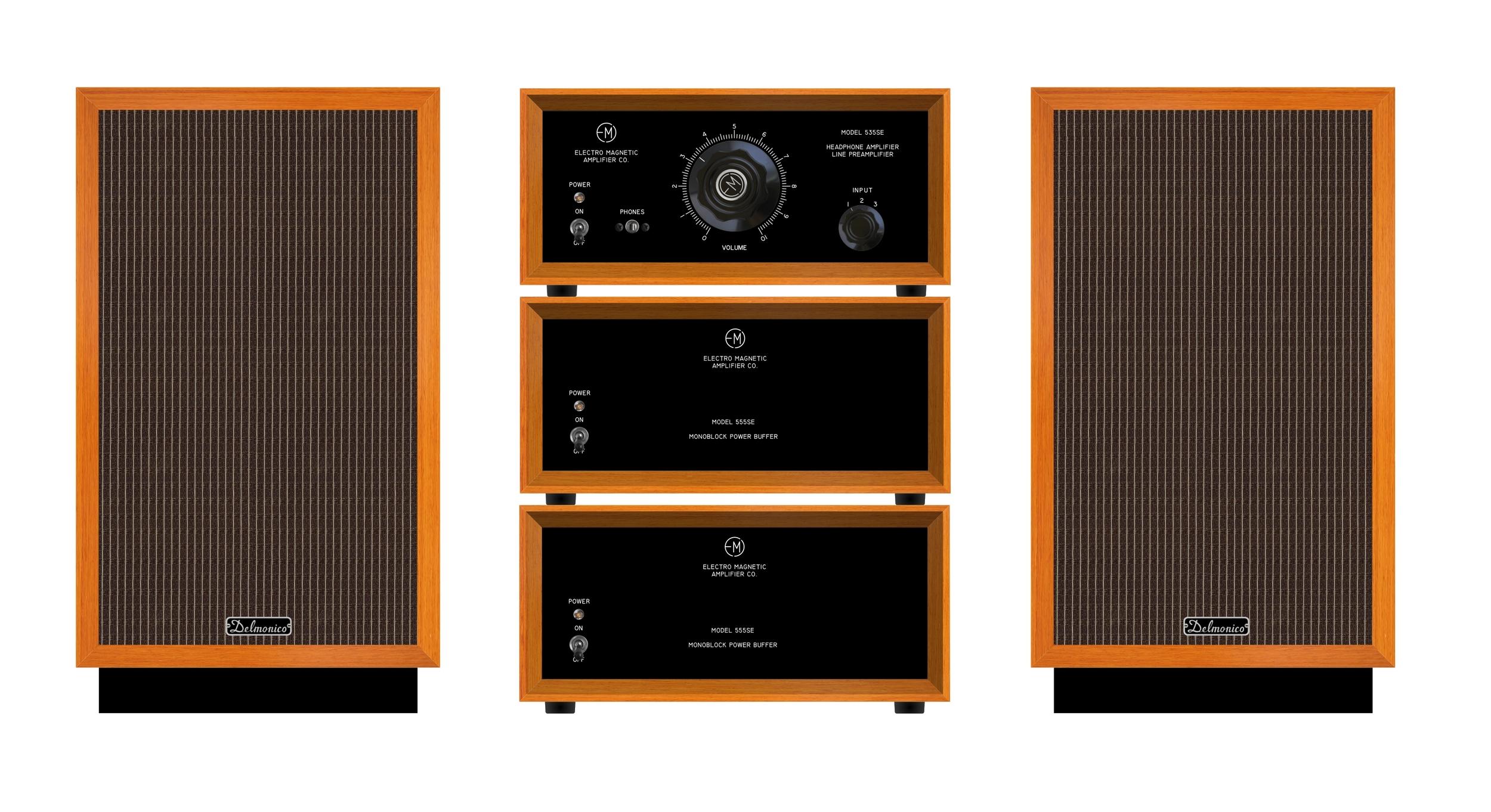 Headphone amplifier/preamplifier, power buffers, small loudspeakers