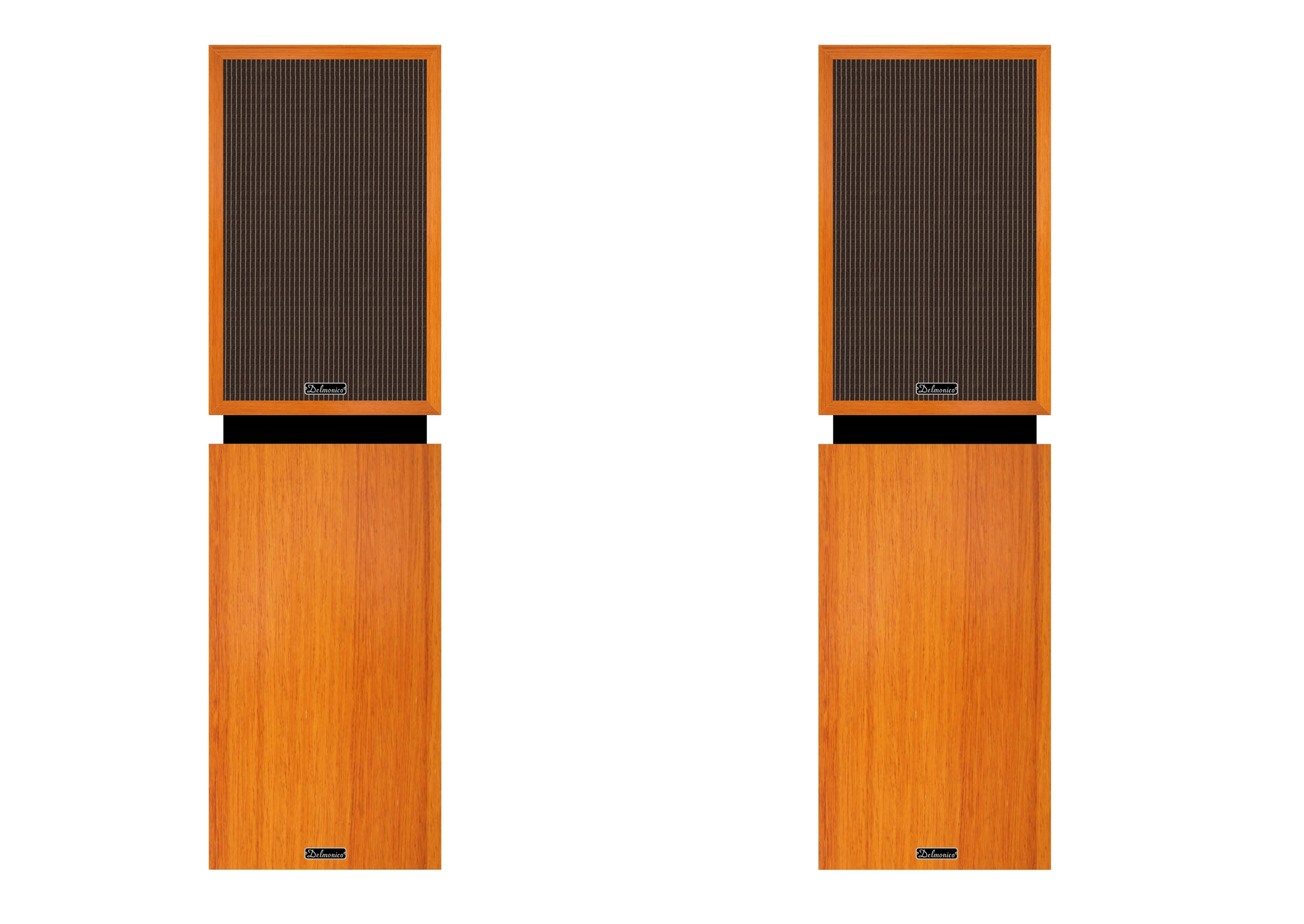 Small loudspeakers on optional stands