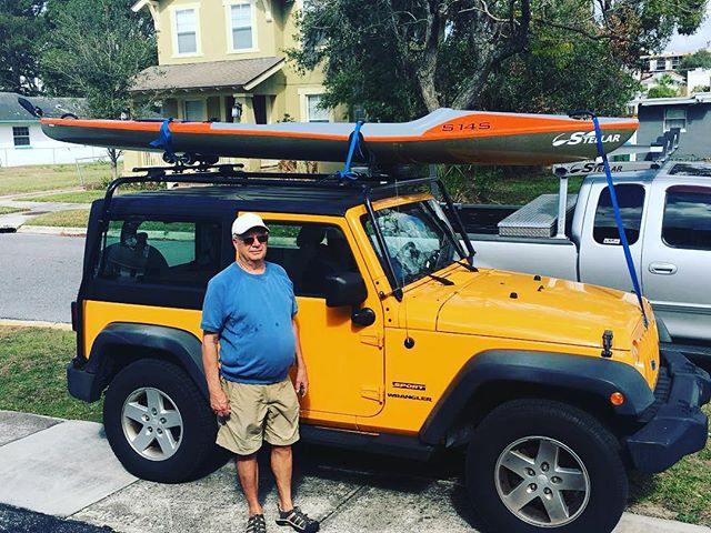 Matthew Gaffney picking up his new S14S Multi Sport! 🚣‍♂️ • • • #surfski #kayak #centralflorida #water #sport #paddleboarding #stellar #orlando