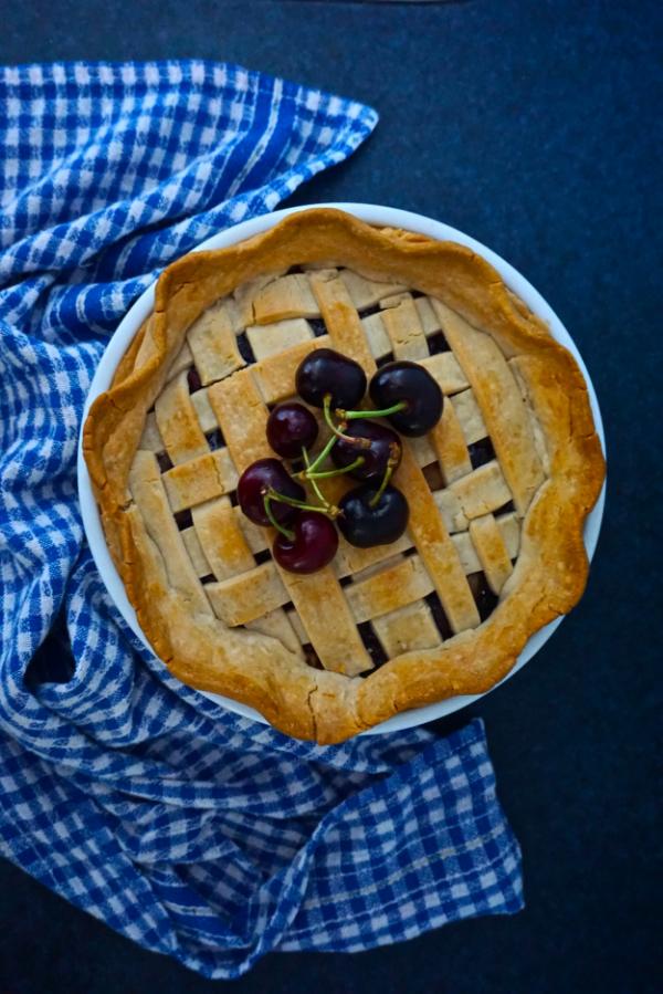 Gluten free vegan cherry pie recipe