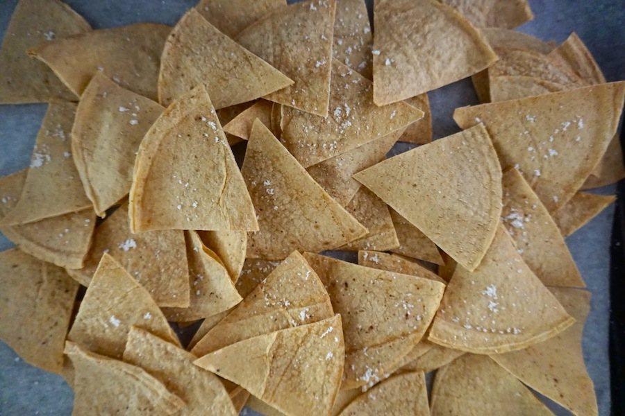 Simple Oil Free Tortilla Chips