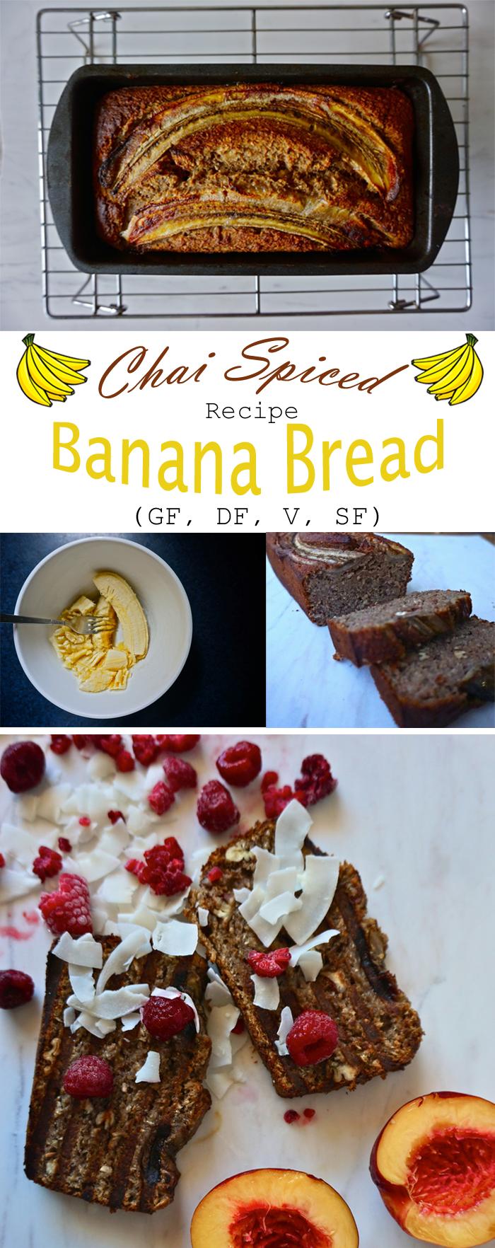 Chai Spiced Banana Bread | Gluten Free, Dairy Free | Full Recipe