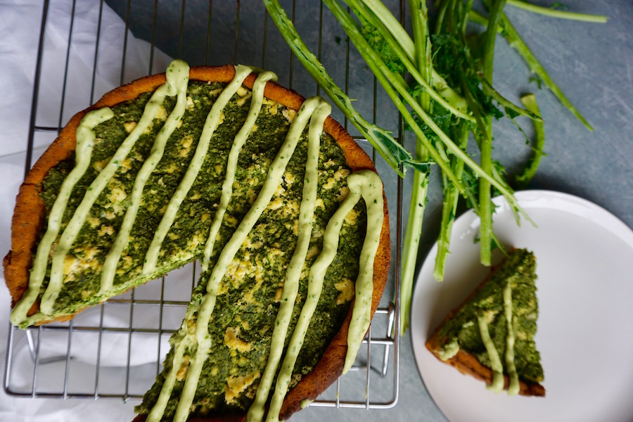 Kale and 'Feta' Pie with a Sweet Potato Crust | Sproutly Stories