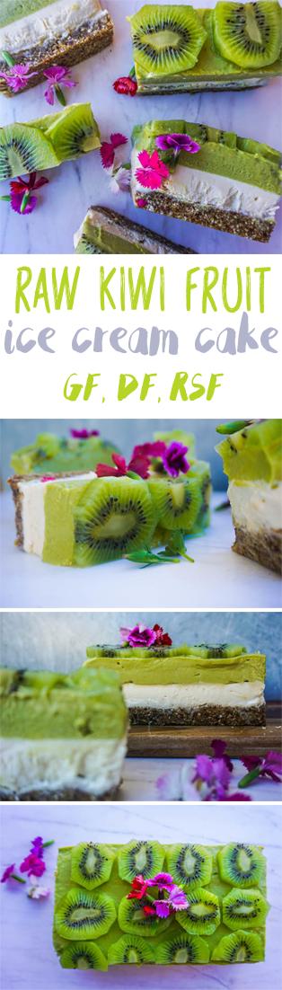 Raw Kiwi Ice Cream Cake | Sproutly Stories | Healthy Dessert Recipes