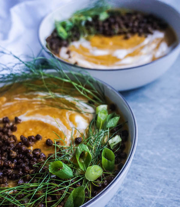 Roasted Fennel and Butternut Squash with a Lentil Crisp | Savoury Recipes | Sproutly Stories