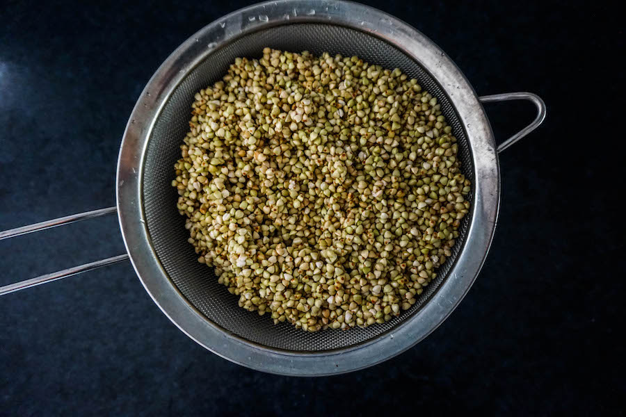 Drain Buckwheat For Your No Yeast Bread