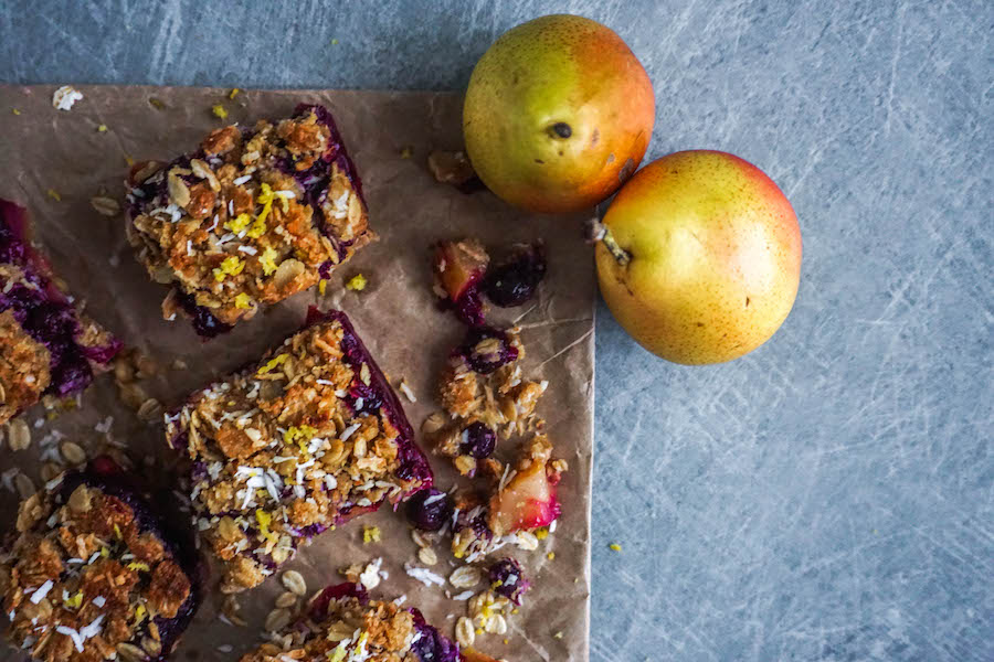 Pear Blueberry Crumble Bars   Sweet Treats   Sproutly Stories