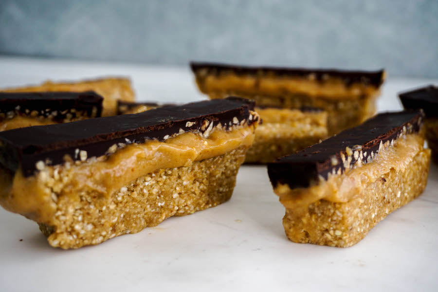 Salted Caramel Peanut Chocolate Slice | Sweet Treats | Sproutly Stories