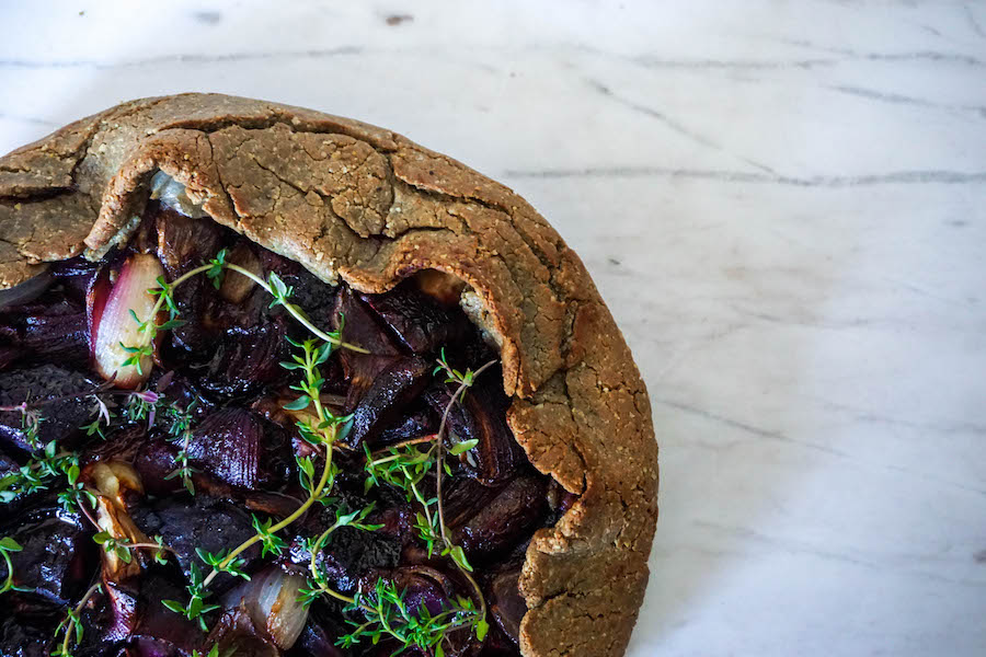 Rustic Caramelised Onion and Beetroot Galette | Savoury Recipes | Sproutly Stories