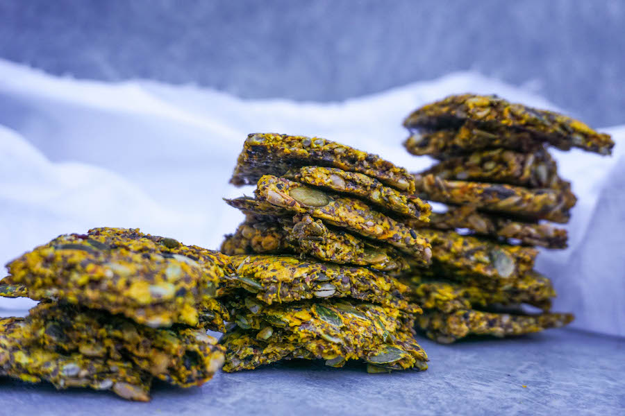 Supercharged Turmeric Seed Crackers | Snacks | Sproutly Stories