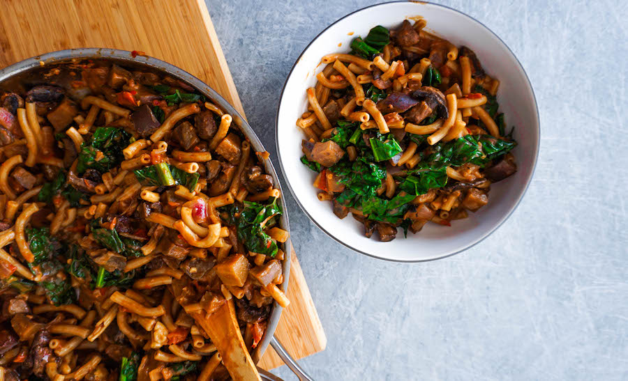 One Pot Creamy Eggplant Pasta | Savoury Recipes | Sproutly Stories