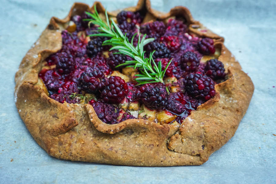 Blackberry Rosemary Galette | Sweet Treats | Sproutly Stories