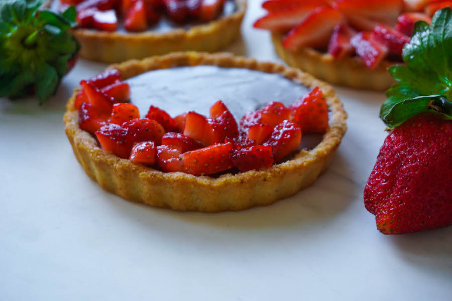 Decadent Dark Chocolate Strawberry Tarts | Sweet Recipes | Sproutly Stories