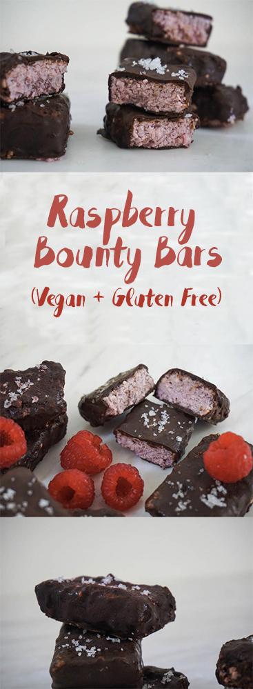 Raspberry Bounty Bars