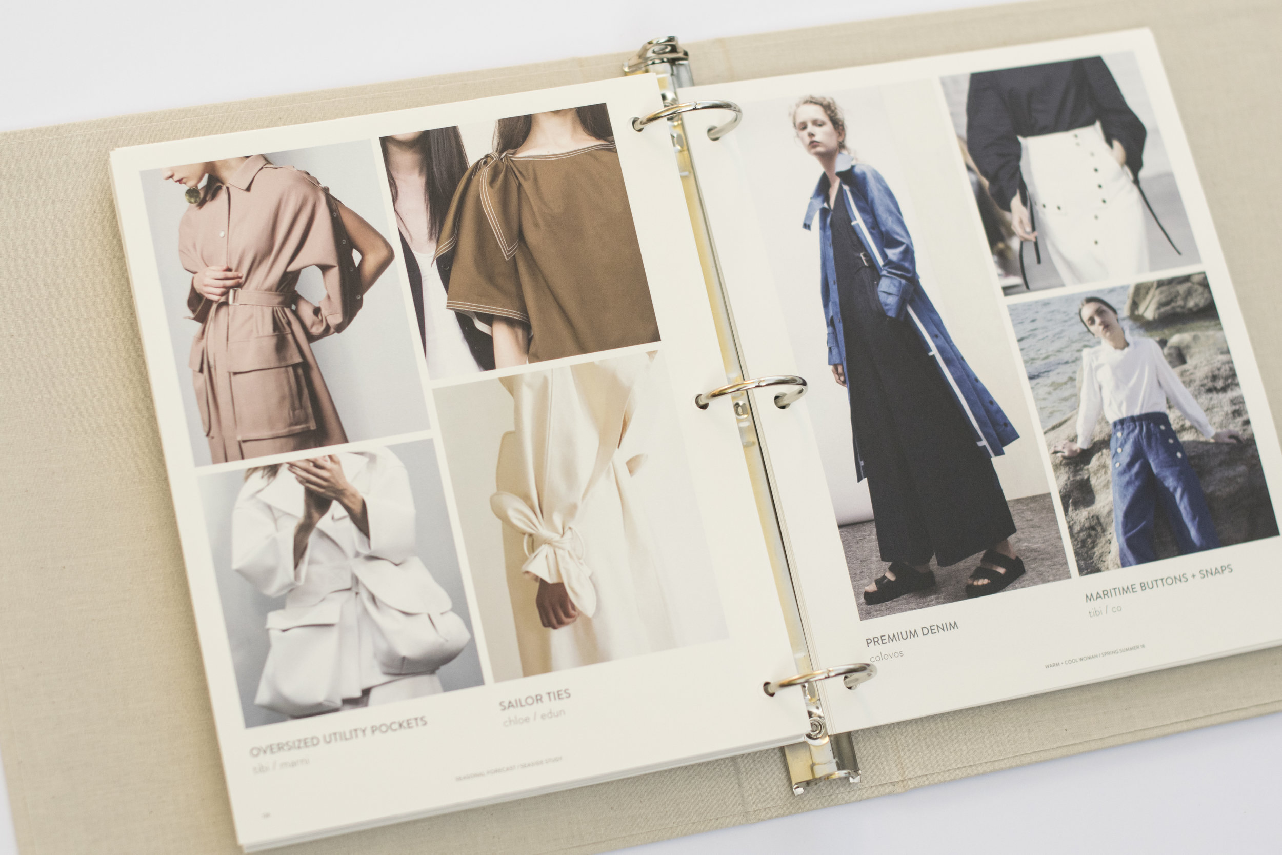 Directional Influences, Details, Artwork, Fabrics, and Key Items Organized by Trend Theme