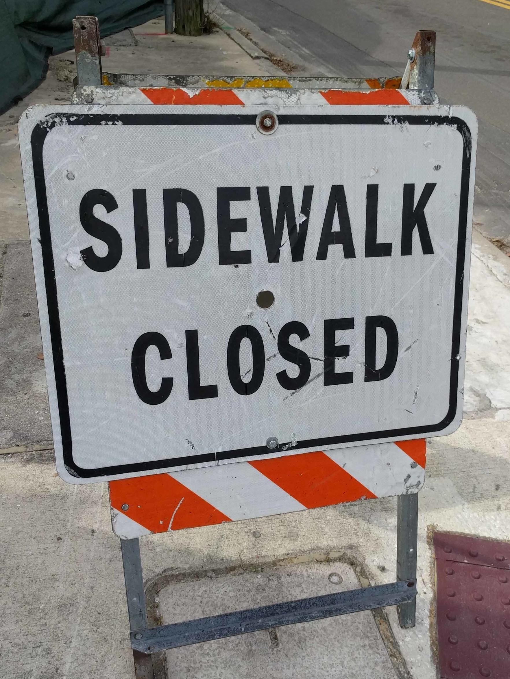 MOT Sidewalk Closed