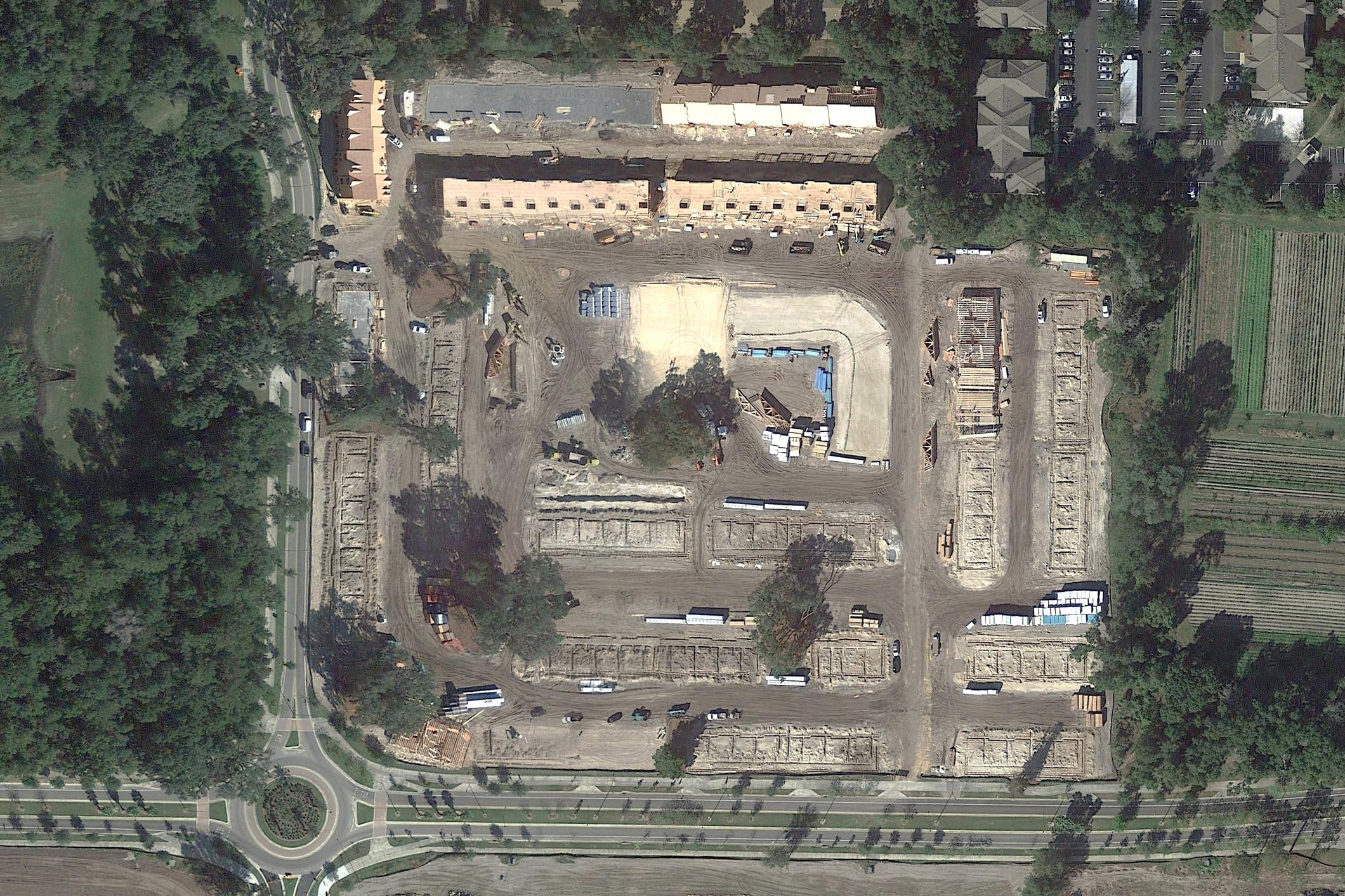 Gainesville Ridge Construction Aerial