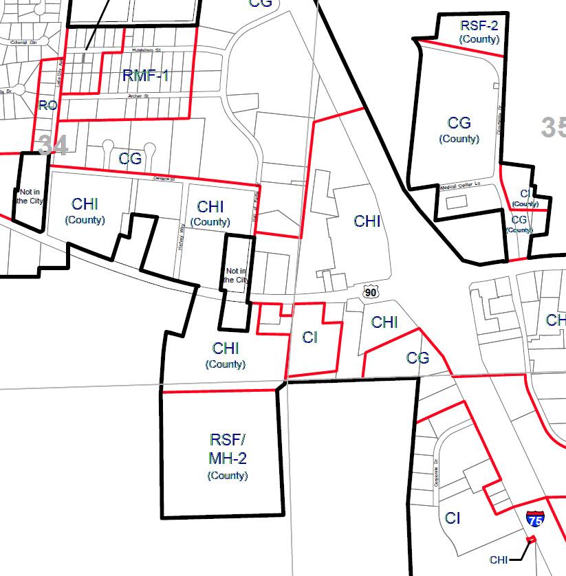 Lake City Zoning Map