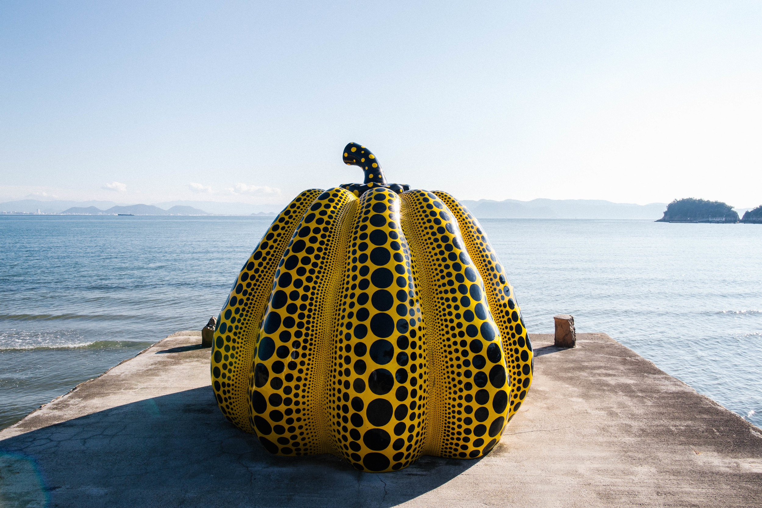 Yayoi Kusama, Pumpkin is a part of Benesse House Museum
