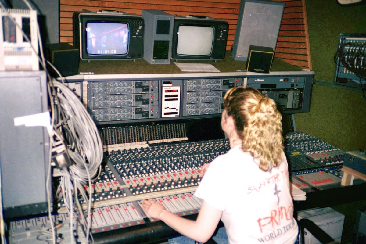 Susan in Prince's studio