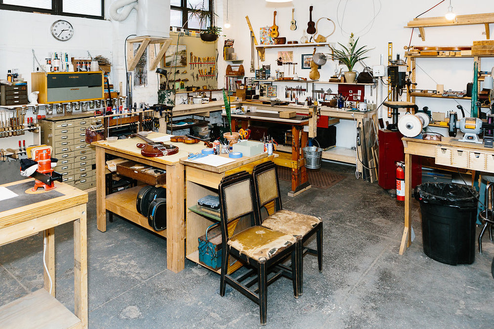 photo by  Ethan Covey , from  Nativen's piece on Brooklyn Lutherie