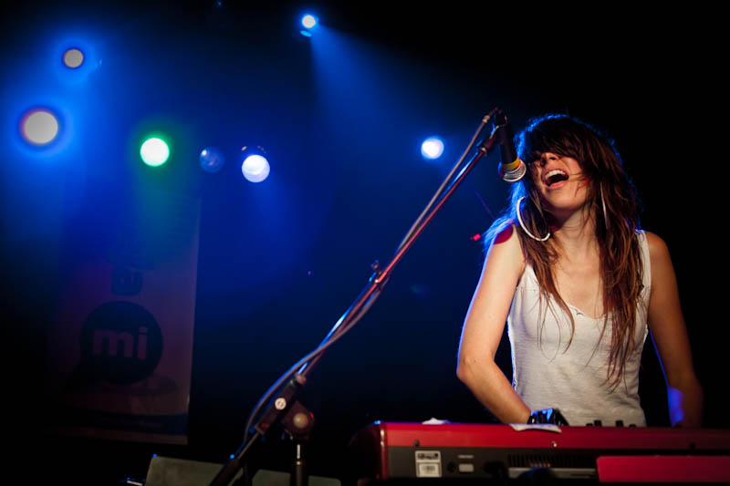 Missy playing in The Love Language, 2011. Photo by Rodney Boles.
