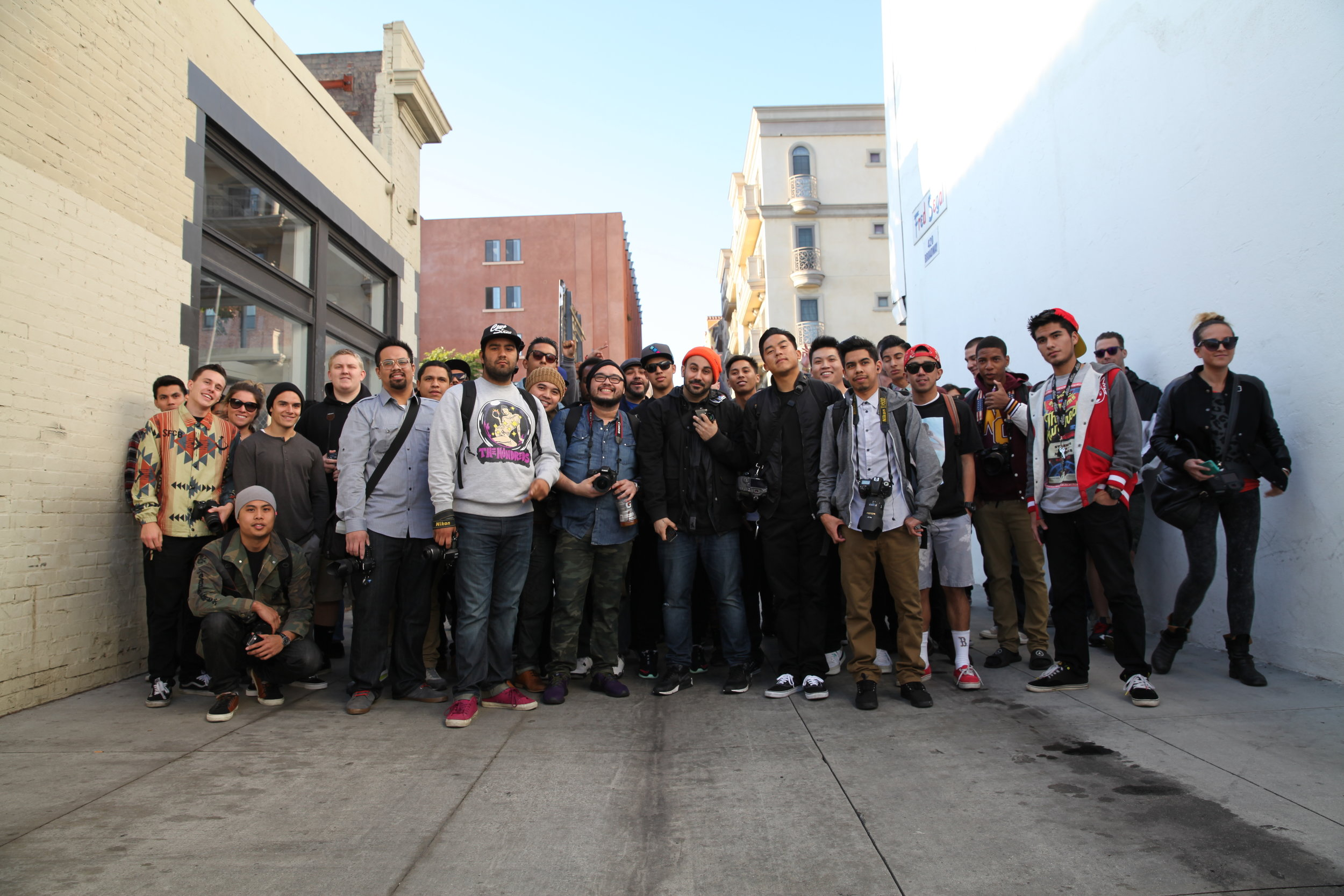 The inaugural Street Meet Santa Monica, which garnered a crowd of almost 200 creatives from Los Angeles and even out of state.