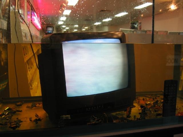 "Underwater TV set from ""Sink or Swim"""