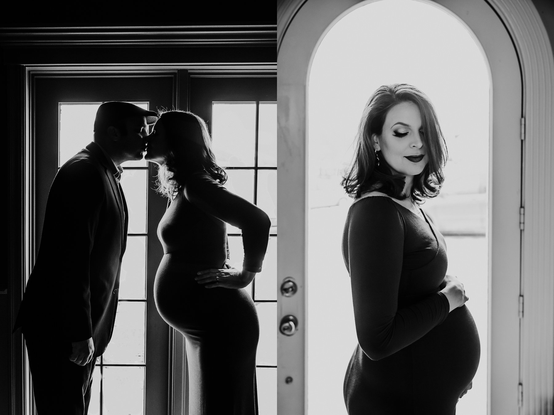 Black and White Winter Maternity Photography in Kansas City by Merry Ohler, Wedding Photographer Kansas City - 8